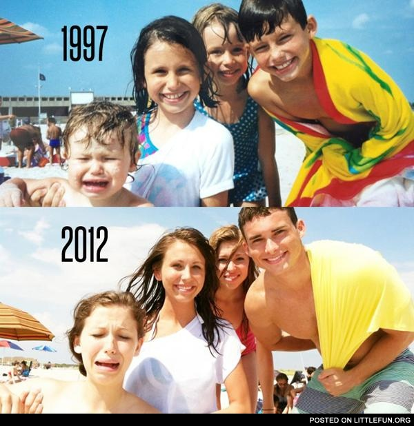 People, clothing, beach - almost nothing has changed