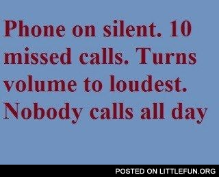 Phone on silent
