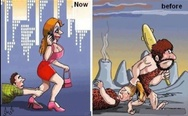 Men and women, before and now.
