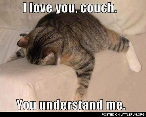 I love you, couch. You understand me.
