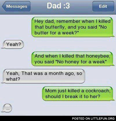 iPhone sms: C*ckroach