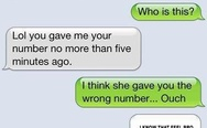 I think she gave you the wrong number. I know that feel bro.