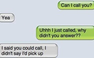 iPhone sms: Can I call you