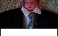 Baby in a business suit