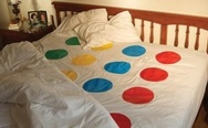 Twister bed sheet.