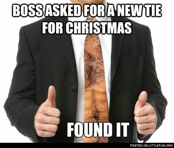 New tie for Christmas