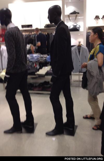 Line in the clothing store
