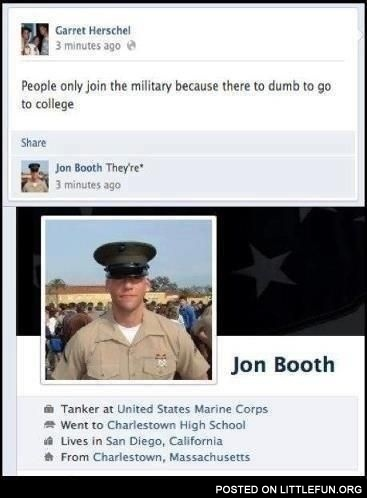People only join the military because