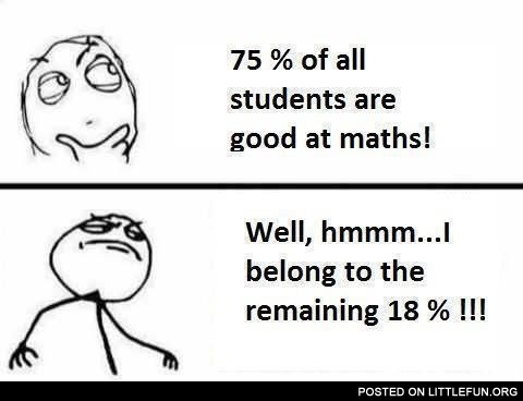 75% of all students are good at maths