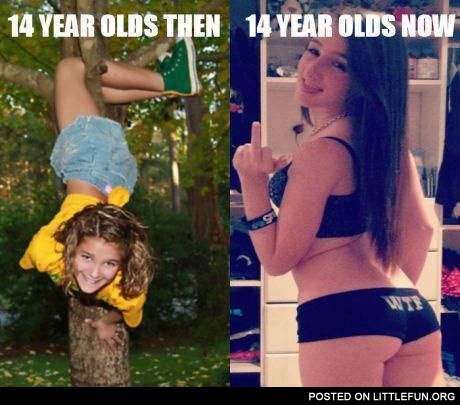 14 year olds then and now