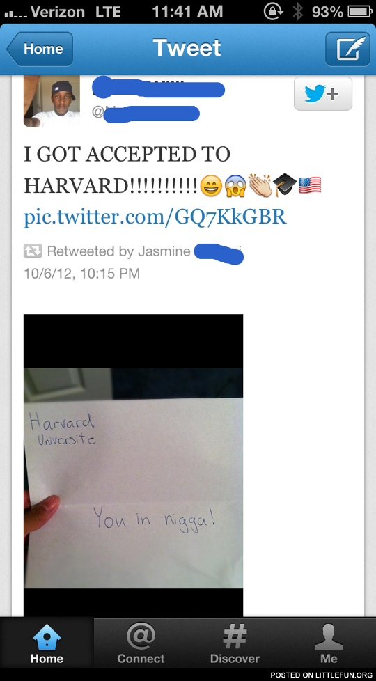 I got accepted to Harvard!!!