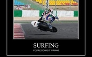 Unusual surfing