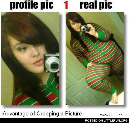 Advantage of cropping picture