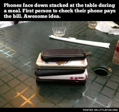 Phones face down