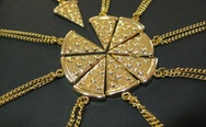 Pizza friendship necklace