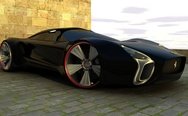 Black Ferrari Concept Car