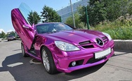 Mercedes SLK purple chrome