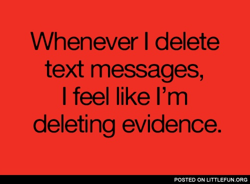 Whenever I delete text messages