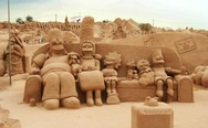 Sand sculptures - Simpsons