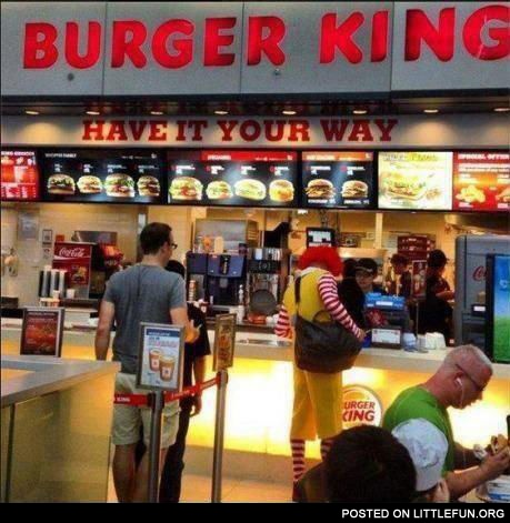 Meanwhile at Burger King