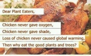 Try chicken - go green