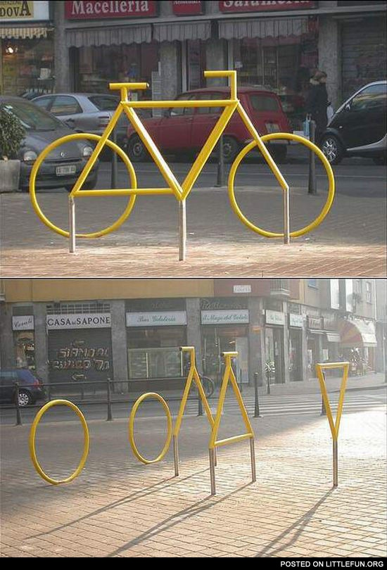 Bicycle optical illusion