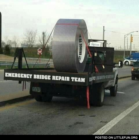 Emergency bridge repair team