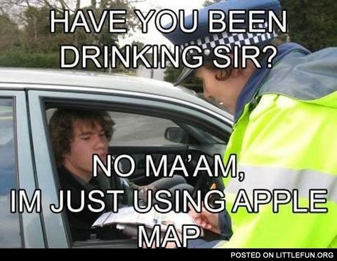 I'm just using Apple Map
