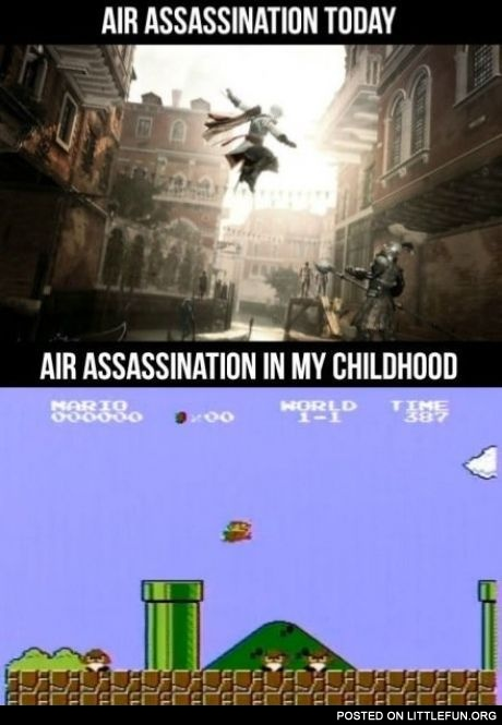 Air assassination today and in my childhood