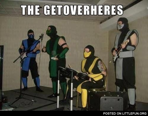 The Getoverheres. Mortal Combat metal band.