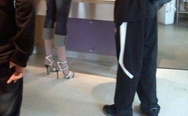 A man in high heels. I don't want to live on this planet anymore.