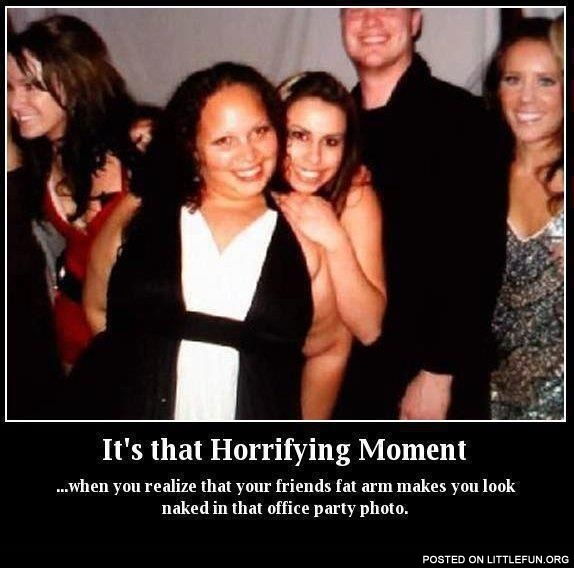 It's that horrifying moment