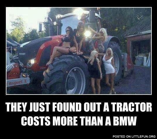 Tractor vs. BMW