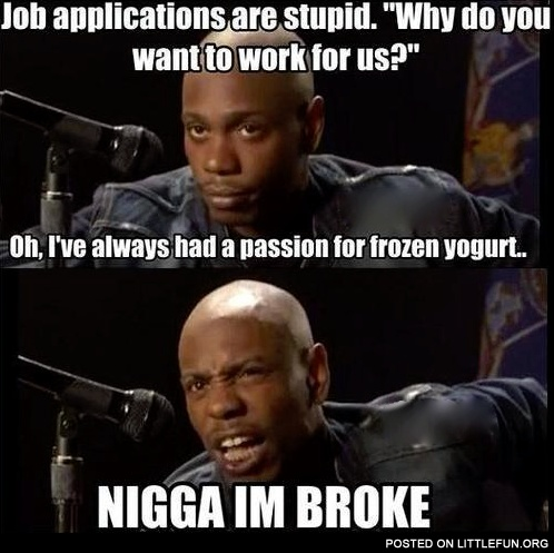Job applications are stupid