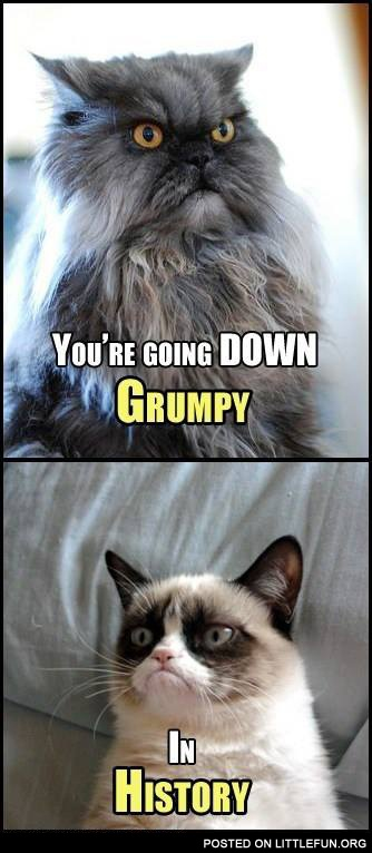 You are going down, Grumpy