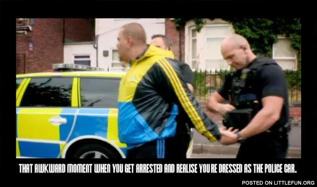 You are dressed as the police car