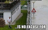 Flood in Germany is no excuse