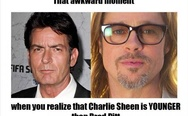 Charlie Sheen is younger than Brad Pitt