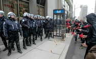 Montreal protesters bribing police with donuts