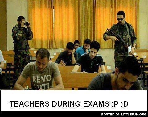 Teachers during exams
