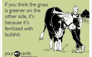 That's why the grass is greener