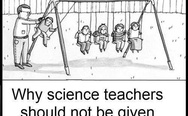 Science teachers and playground