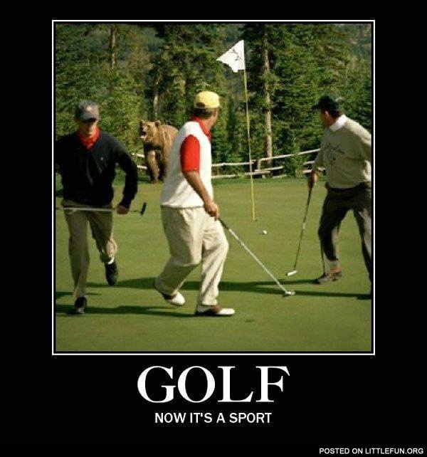 Golf, now it's a sport