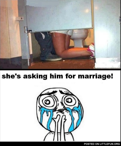 She is asking him for marriage