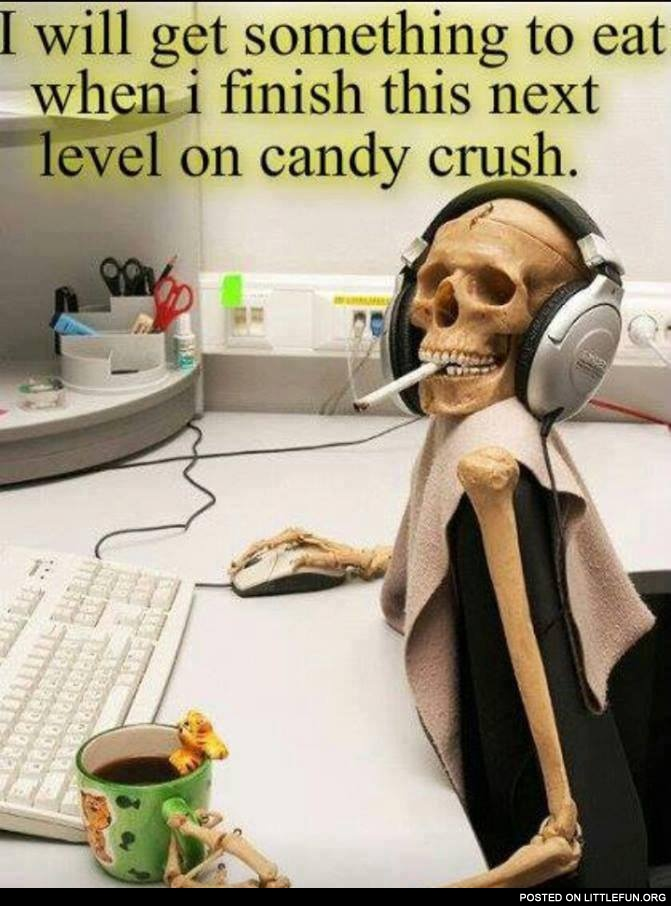 Next level on candy crush
