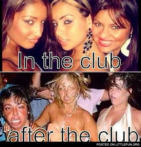 In the club vs. After the club