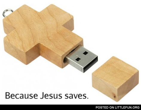Because Jesus saves