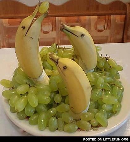 Украшения из фруктов для стола своими руками