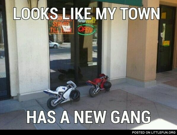 My town has a new gang