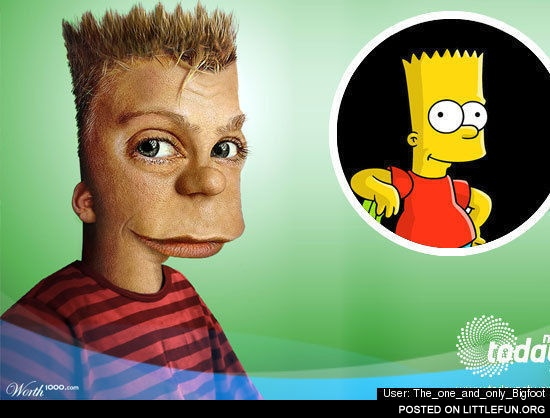 Bart Simpson as a real person